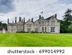 irish vintage castle and green... | Shutterstock . vector #699014992