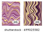 cover layouts collection with... | Shutterstock .eps vector #699025582