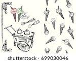 vector illustration. ice cream... | Shutterstock .eps vector #699030046
