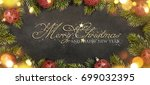 christmas holiday background  | Shutterstock . vector #699032395
