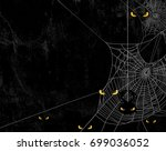 spider web silhouette against... | Shutterstock .eps vector #699036052