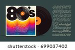 80's music mix. super hits.... | Shutterstock .eps vector #699037402
