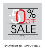 abstract sale baner. sale 50 ... | Shutterstock .eps vector #699044818