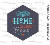 lettering poster with the... | Shutterstock .eps vector #699045802