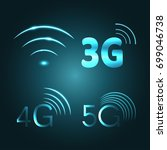 wi fi  3g  4g and 5g technology ... | Shutterstock .eps vector #699046738