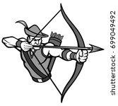 archer mascot illustration   Shutterstock .eps vector #699049492
