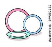 plates illustration   Shutterstock .eps vector #699052132