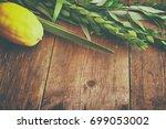 jewish festival of sukkot.... | Shutterstock . vector #699053002