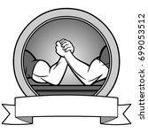 arm wrestling banner... | Shutterstock .eps vector #699053512