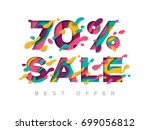 paper cut 70 percent off. 70 ...   Shutterstock .eps vector #699056812
