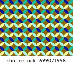 seamless geometric pattern from ... | Shutterstock . vector #699071998