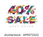 paper cut 40 percent off. 40 ... | Shutterstock .eps vector #699072322