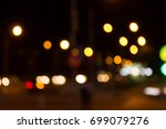 the background of the bokeh... | Shutterstock . vector #699079276