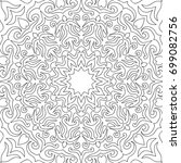 coloring adult page. black and... | Shutterstock .eps vector #699082756