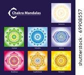 vector chakra symbol mandalas... | Shutterstock .eps vector #69908557
