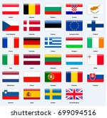 all flags of the countries of... | Shutterstock .eps vector #699094516