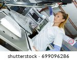 Woman Laundry Worker At The Dr...