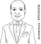 vector   smiling man   tuxedo... | Shutterstock .eps vector #699103336