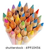group of colored pencils on the ... | Shutterstock . vector #69910456