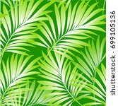 tropical palm leaves  jungle... | Shutterstock .eps vector #699105136