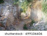 abandoned street in an ancient... | Shutterstock . vector #699106606