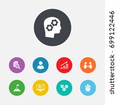 set of 9 idea icons set... | Shutterstock .eps vector #699122446