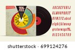 70's music mix. super hits.... | Shutterstock .eps vector #699124276