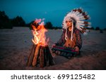 young american indian woman... | Shutterstock . vector #699125482