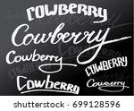 vector calligraphy. typography... | Shutterstock .eps vector #699128596