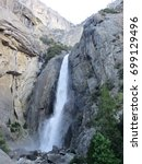 the view of yosemite's fall it... | Shutterstock . vector #699129496