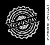 wednesday written with... | Shutterstock .eps vector #699136276