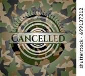 cancelled on camo texture | Shutterstock .eps vector #699137212