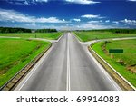 road view - stock photo