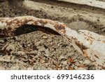 defective damaged steel... | Shutterstock . vector #699146236
