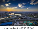night high speed... | Shutterstock . vector #699152068