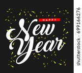 happy new year vector template... | Shutterstock .eps vector #699166276