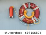 Lifebuoy With Light And Smoke...