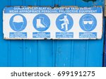 common safety notice on wearing ... | Shutterstock . vector #699191275