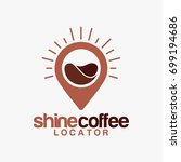 coffee point logo designs ... | Shutterstock .eps vector #699194686