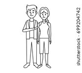couple standing man and woman... | Shutterstock .eps vector #699204742
