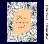 romantic invitation. wedding ...   Shutterstock . vector #699205015