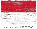 indonesia flag grunge... | Shutterstock . vector #699209065