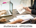 business people meeting they...   Shutterstock . vector #699210586