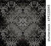 pattern floral vector... | Shutterstock .eps vector #699220045
