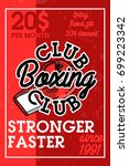color vintage boxing club banner | Shutterstock .eps vector #699223342