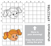 copy the picture using grid... | Shutterstock .eps vector #699227086