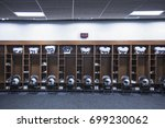 American football locker room...