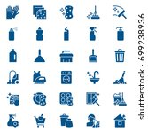 set of cleaning service and... | Shutterstock .eps vector #699238936