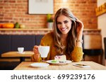 portrait shot of a beautiful... | Shutterstock . vector #699239176