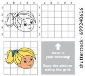 copy the picture using grid... | Shutterstock .eps vector #699240616